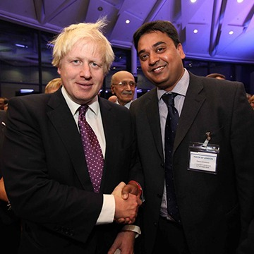 StudyinUK-Pawan with Mr. Boris Johnson